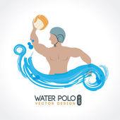 Water polo — Stock Vector