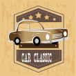 Car classic — Stock Vector
