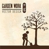 Bahçe işi — Stok Vektör
