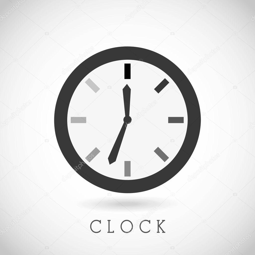 时钟和时间图标 — 图库矢量图片 #35989801