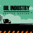 Oil industry design  — Stock Vector