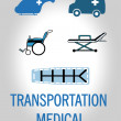 Transport medical design  — Stock Vector