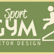 Gym design — Stock Vector