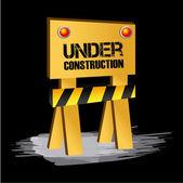 En construcción — Vector de stock