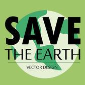 Save the eartht — Stock Vector