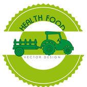 Health food label — Stock Vector