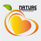 Nature food label — Stock Vector