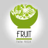 Fruit label — Stock Vector
