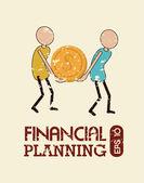 Finansal planlama — Stok Vektör