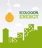Ecological energy — Stock Vector