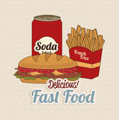 Fast food — Stock Vector
