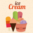 Ice cream design — Image vectorielle