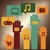 Multimedia — Stok Vektör