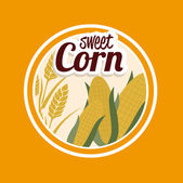 Sweet corn — Stock Vector