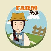 Farm fresh label — Stock Vector