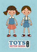 çocuk oyuncakları — Stok Vektör