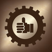 Acceptance gesture — Stock Vector