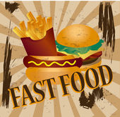 Fast food — Vector de stock