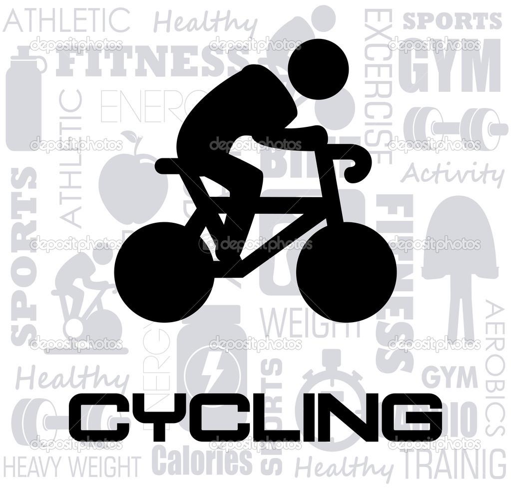 自行车设计在白色的背景矢量图