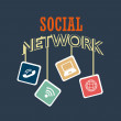 Social network — Stock Vector