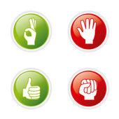 Händer gest — Stockvektor