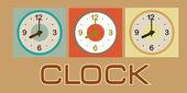 Orologio design — Vettoriale Stock