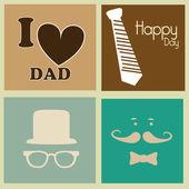 Giorno felice padri — Vettoriale Stock