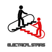 Electrical stairs — Stock Vector