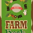 Farm fresh label — Stock Vector #36909177