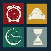 Klok ontwerp — Stockvector