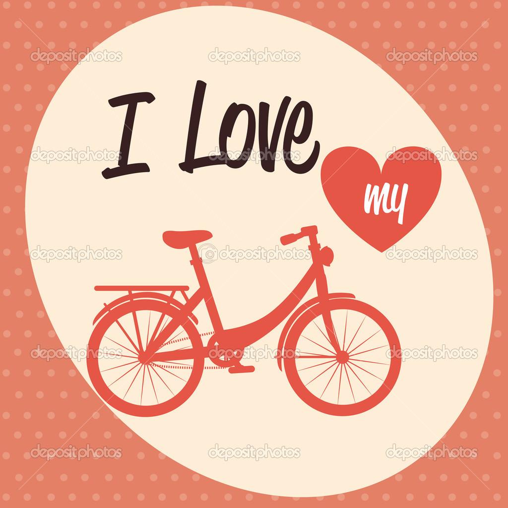 自行车设计在虚线的背景矢量图