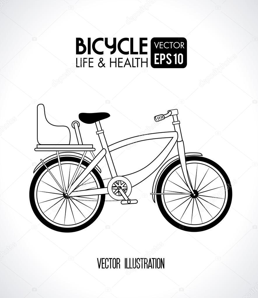 自行车设计在灰色的背景矢量图
