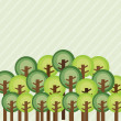 Vector de stock : Forest design