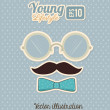 Young design — Stock Vector