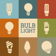 Stock Vector: Bulbs design