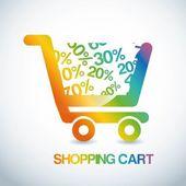 Shopping design — Stockvektor