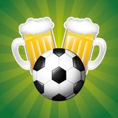 Beer and sport — Wektor stockowy