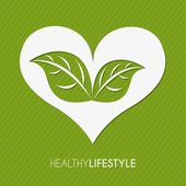 健康的なライフ スタイル — ストックベクタ