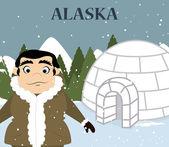 Alaska design — Stock Vector
