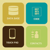 Data icons — Stock Vector