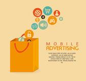 Mobile advertising — Stock Vector