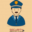 Stock Vector: Security system