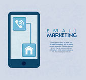 Email marketing — Vettoriale Stock