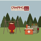 Camping design — Stock Vector