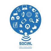 Sociala medier — Stockvektor