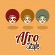 Stock Vector: Afro style design