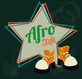 Afro style design — Stock Vector