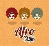 Afro stijl ontwerp — Stockvector