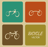 Bicycle design — Stock Vector