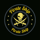Pirate design — Stock Vector